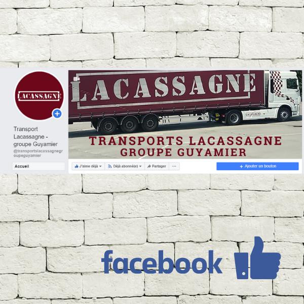 Transports Lacassagne transport routier de marchandises animation réseaux sociaux conseil en communication page facebook