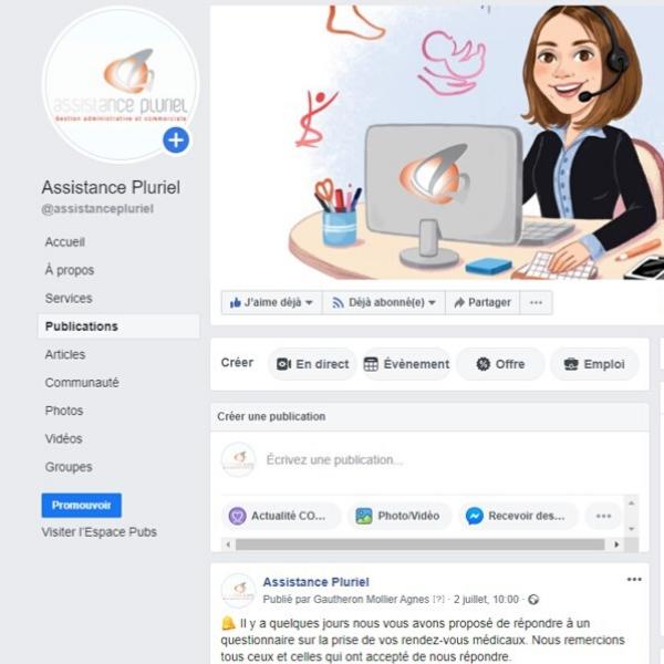 Assistance Pluriel Animation page facebook page linkedin community management conseil en communication