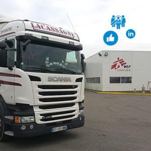 Transports Lacassagne transport routier de marchandises animation réseaux sociaux conseil en communication