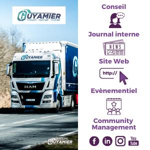 AMollier conseil Transport Guyamier client Reseaux sociaux evenementiel site web newsletters