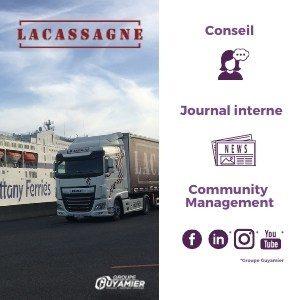 AMollier conseil Transport lacassagne client Reseaux sociaux evenementiel site web newsletters