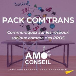 pack com trans l'outil pour communiquer sur les réseaux sociaux comme un pro un package à l'image de votre entreprise qui vous offre tous les outils pour communiquer sur facebook linkedIn instagram
